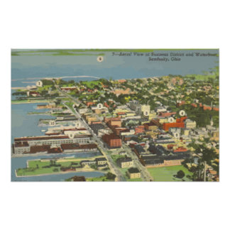 Businear District And Waterboat Sandusky Ohio V Poster