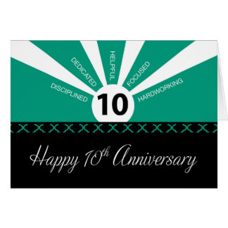 Employee 10 Year Anniversary Greeting Cards Zazzle