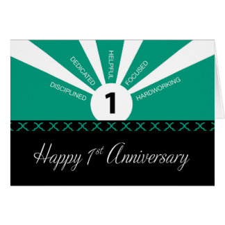 Business 1st Year Employee Anniversary, Green Card