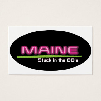 """Business, 3.5"""" x 2.0"""", 100 pack, MAINE STUCK 80's Business Card"""