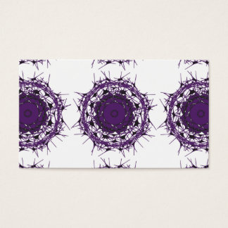 """Business, 3.5"""" x 2.0"""", 100 pack PURPLE ABSTRACT CI Business Card"""