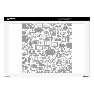 """Business a background7 17"""" laptop skins"""