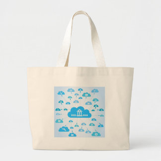 Business a cloud3 large tote bag
