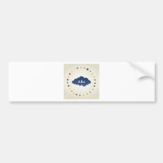 Business a cloud bumper sticker