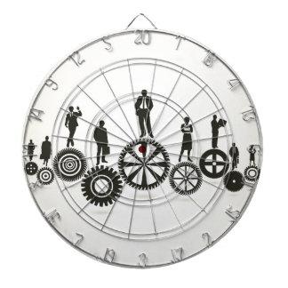 Business a gear wheel dart board