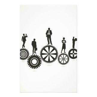 Business a gear wheel stationery