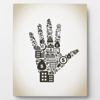 Business a hand2 plaque