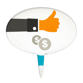 Business a hand cake topper