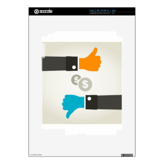 Business a hand decals for the iPad 2