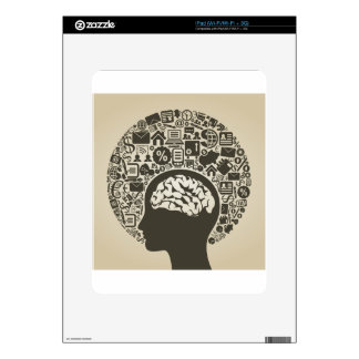 Business a head decal for iPad