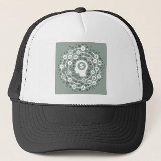 Business a head trucker hat