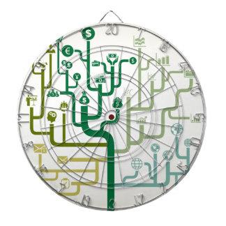 Business a labyrinth dart board