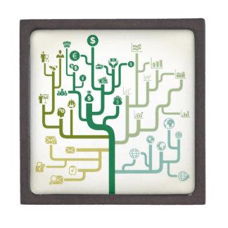Business a labyrinth jewelry box