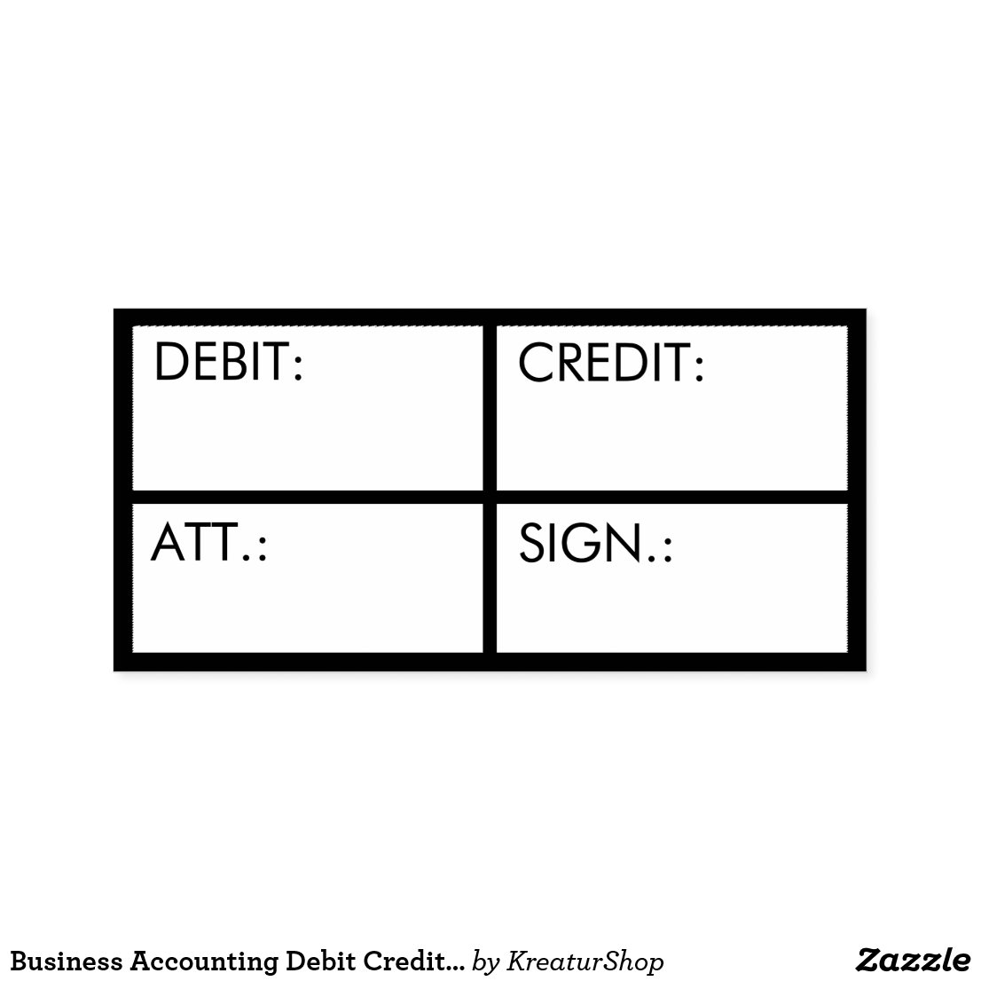 Business Accounting Debit Credit Custom