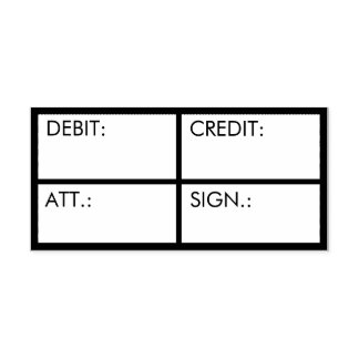 Business Accounting Debit Credit Custom Self-inking Stamp