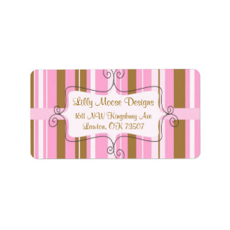 business address labels fun girly chic sweet cute