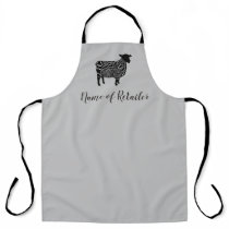 business address sheep farmer retail shop trader apron