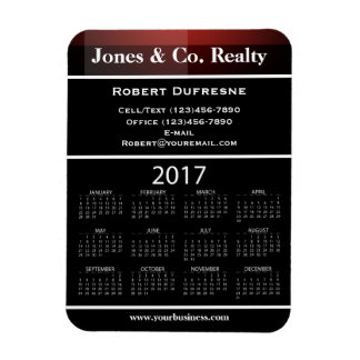 Business Advertising 2017 Calendar Red Magnet
