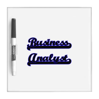 Business Analyst Classic Job Design Dry-Erase Boards
