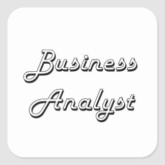 Business Analyst Classic Job Design Square Sticker