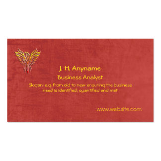 Business Analyst, phoenix logo on leather-effect Double-Sided Standard Business Cards (Pack Of 100)