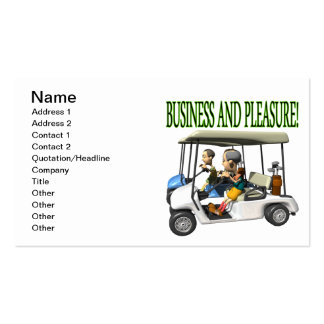 Business And Pleasure Business Card