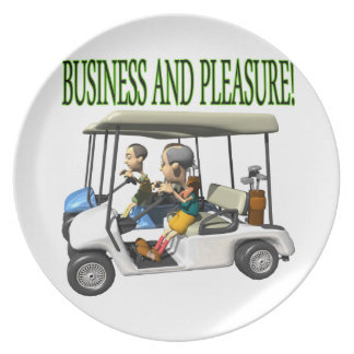 Business And Pleasure Party Plates