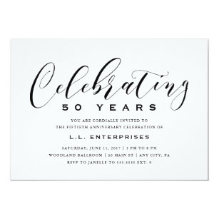 Business Anniversary Invitation