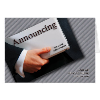 Business Announcement Greeting Card
