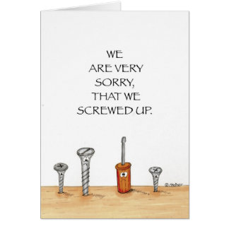 Business Apology Card