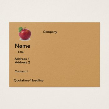 Business Apple  Design Business Card by CREATIVEforBUSINESS at Zazzle