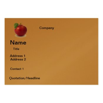 Business Apple  Design Large Business Card by CREATIVEforBUSINESS at Zazzle
