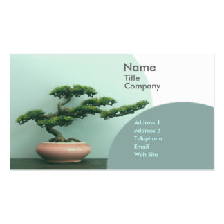 Business/Appointment Card Template-Bonsai Circles Double-Sided Standard Business Cards (Pack Of 100)