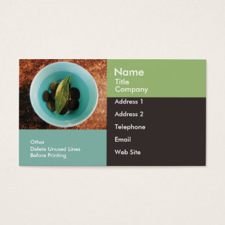 Business/Appointment Card Template-Geometric Bowl