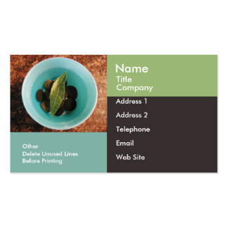 Business/Appointment Card Template-Geometric Bowl Double-Sided Standard Business Cards (Pack Of 100)