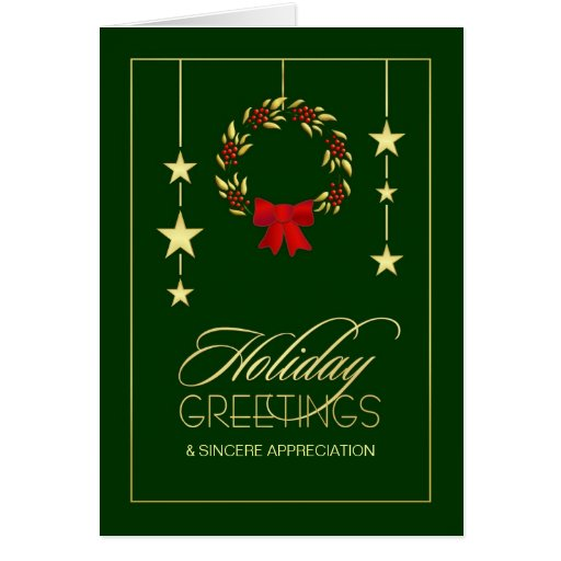 Business Appreciation Holiday Greeting Cards Zazzle