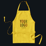 """Business Apron with Pockets Custom Corporate Logo<br><div class=""""desc"""">Easily personalize this apron with your own company logo and custom text. Promotional aprons custom printed with your business logo make a professional impression while advertising your business. Custom logo aprons are ideal for a catering company, chef, restaurant, bakery, grocery store owner, paint shop, artist or gardener. No minimum order...</div>"""