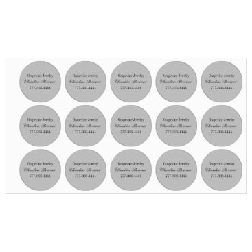 Business Artist Crafter Waterproof Circle Label