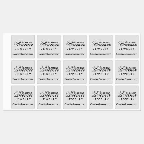 Business Artist Crafter Waterproof Square Labels
