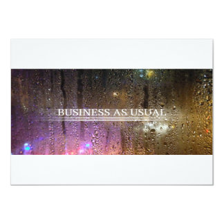 business as usual 4.5x6.25 paper invitation card