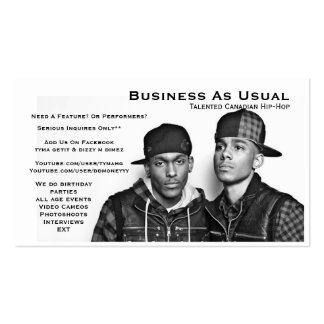 Business As Usual Business Card