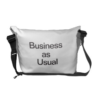 Business As Usual Courier Bag