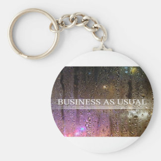 business as usual keychain