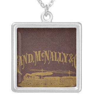 Business atlas silver plated necklace