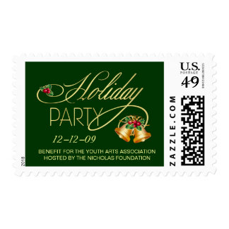 Business Benefit Holiday Party Postage Stamps