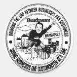 Business Beware Seal Sticker