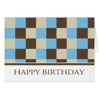 Business Birthday Card With Cool Squares - Custome