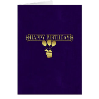 business birthday greeting card - stylish purple a