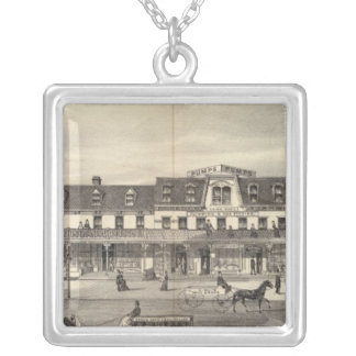 Business block, Asbury Park, New Jersey Silver Plated Necklace