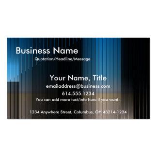 Business Blue, Brown & Black Stripes Business Card